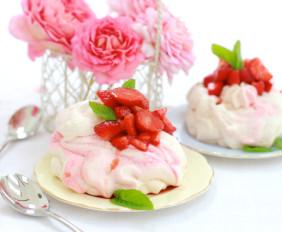 Rose Meringue & Balsamic Strawberries - 2